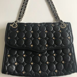 Rebecca Minkoff Black Studded Quilted Affair Bag